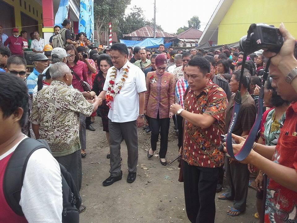 Kunjungan kerja Gubernur Sulut di kabupaten Minsel